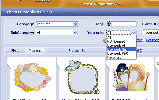 view free gift frames